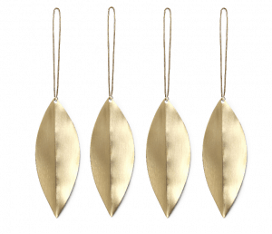 Brass Leaf Made in Design Tree Decorations