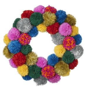 Debenhams Pom Pom Wreath