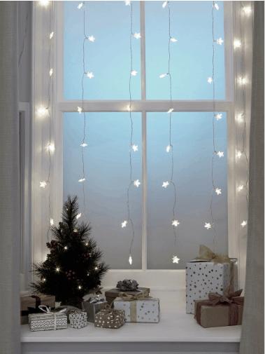 Snowflake Fairylight Curtain from Argos